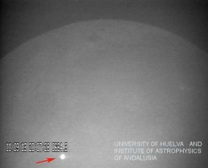 Large lunar impact detected by Moon Impacts Detection and Analysis System (MIDAS) system