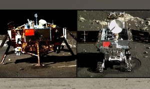 Group shot...China's Chang'e 3 lander and Yutu rover.  Credit: Chinese Academy of Sciences