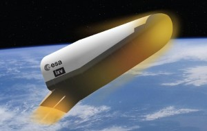 The European Space Agency's (ESA) Intermediate eXperimental Vehicle (IXV) project.  Credit: ESA