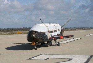 X-37 space plane.  Credit: USAF/Boeing