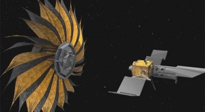 Starshade to look for exoplanets.  Credit: NASA/JPL