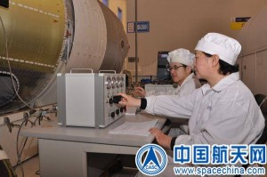 Tiangong-2 space lab undergoes testing for expected launch next year. Credit: CASC, SpaceChina.com