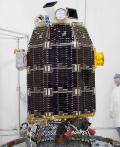 NASA's Lunar Atmosphere and Dust Environment Explorer (LADEE).  Credit: NASA/Ames