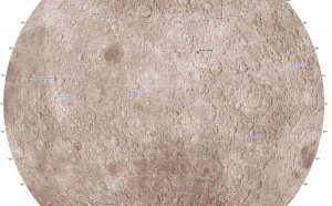 Moon's far side is marked by human-made craters. Rest in pieces! Credit: Philip Stooke