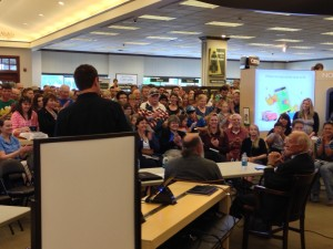 Great audience at Barnes and Noble bookstore in Glendale, Colorado. Credit: Barbara David