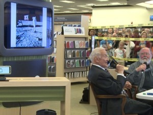 Buzz Aldrin and I at Barnes and Noble bookstore in Glendale, Colorado. Credit: Nelson Garcia