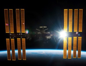 Political eclipse of International Space Station. U.S. lawmakers react to Russian statements on the future of the orbiting complex. Credit: NASA