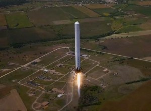 Grasshopper technology demonstrator for use in SpaceX's Falcon 9-R has repeatedly flown to various altitudes at the firm's test site in McGregor, Texas. Credit: SpaceX