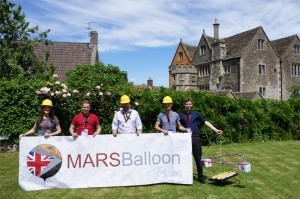 MARSBalloon student experimenters: Credit: Thales Alenia Space UK