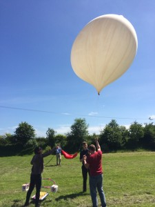 Up, up and away. MARSBalloon readied for liftoff. Credit: Thales Alenia Space UK