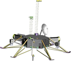 Concept of a Europa lander. Credit: University of Texas at Austin's Institute for Geophysics.