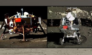 China's Chang'e 3 Moon lander and Yutu rover. Credit: Chinese Academy of Sciences