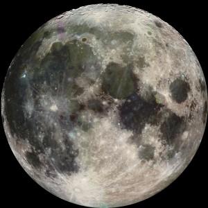 Full Moon...full of Earth fossils? Credit: NASA/JPL