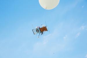 Liftoff - JP Aerospace balloon ascends. Credit: Makoto Azuma