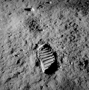 One small step for making business on the Moon a new economic sphere? Credit: NASA