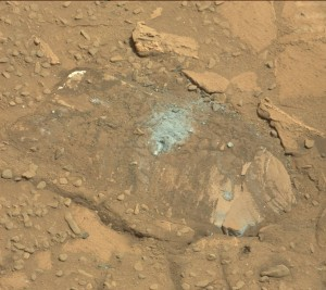 Mast Camera (Mastcam) (MSSS-MALIN) images for Sol 726. Evaluation of a pale, flat Martian rock as the potential next drilling target for NASA's Curiosity Mars rover determined that the rock was not stable enough for safe drilling.