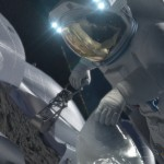 Hand over hand contact with asteroids - part of our future? Credit: NASA
