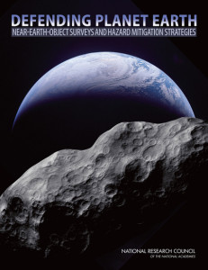 Numbers of studies have been completed, flagging the issues of hazardous near-Earth objects (NEOs). Credit: NRC