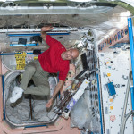 Back pain is experienced by astronauts as their spine elongates up to 2 inches while in the microgravity environment of space.  Credit: NASA