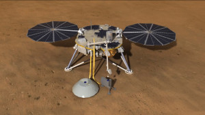 InSight's robot arm would have deployed sensitive Seismic Experiment for Interior Structure (SEIS) (white object in foreground). Credit: NASA/JPL