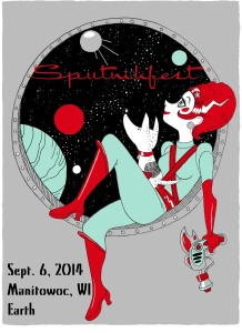 This year's smashing and spacey poster by Tina Kugler (tinakuglerstudio.com). Copies available from Rahr-West Art Museum. Credit Tina Kugler