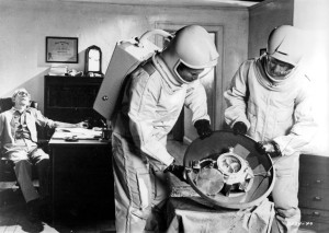 The Andromeda Strain - the 1971 movie, but how real for a 21st century return to  Earth of Mars samples? Credit: Universal Pictures