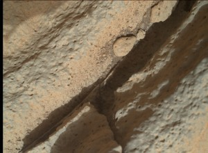 NASA's Mars rover Curiosity acquired this image using its Mars Hand Lens Imager (MAHLI), located on the turret at the end of the rover's robotic arm, on November 20, 2014, Sol 814 of the Mars Science Laboratory Mission, at 11:45:36 UTC. Image Credit: NASA/JPL-Caltech/MSSS