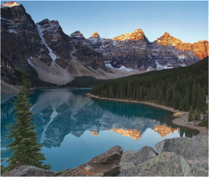 Sunrise over Lake Moraine, Banff National Park, Canada.  Credit: Shutterstock/Zvia Shever