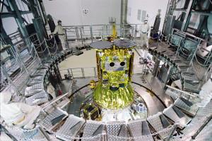JAXA's Hayabusa2 is ready for launch onboard the H-IIA Launch Vehicle No. 26. Credit: JAXA