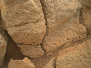 Using an onboard focusing process, the Mars Hand Lens Imager (MAHLI) aboard NASA's Mars rover Curiosity created this product by merging two to eight images previously taken by the MAHLI, located on the turret at the end of the rover's robotic arm. Curiosity performed this imagery merge on December 30, 2014, Sol 853 of the Mars Science Laboratory Mission. Image Credit: NASA/JPL-Caltech/MSSS