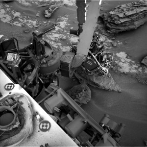 This image was taken by Navcam on Sol 853 (2014-12-30). Image Credit: NASA/JPL-Caltech