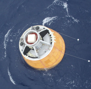 Bobbing in the Bay of Bengal - India's Crew Module Atmospheric Re-entry Experiment (CARE) Credit: ISRO
