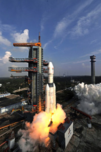 Liftoff of India's next generation booster – GSLV Mk-III. Credit: ISRO