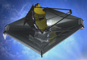 August 2013 artist's impression of James Webb Space Telescope. Credit: Northrop Grumman
