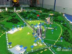 China's new spaceport on Hainan Island is set to be the departure point for new classes of Long March boosters. Model of the complex depicts layout of the Wenchang Satellite Launch Center. Credit: China Space website