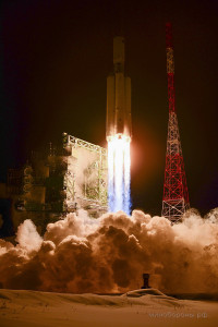 Angara-A5 liftoff.  Credit: Ministry of Defence of the Russian Federation