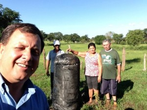 Selfie photo posted on Facebook shows purported piece of space junk associated with objects reentering over Brazil. Credit: Via Facebook