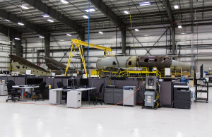 Work is underway on SpaceShipTwo, number two. Credit: Virgin Galactic