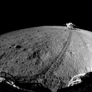China's Yutu lunar rover took this image of Change'3 lander. Credit: NAOC/Chinese Academy of Sciences