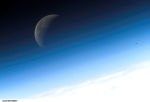 Earth's Moon seen from the International Space Station - ready for mining or not? Credit: NASA