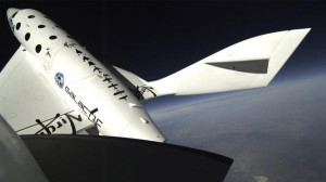 SpaceShipTwo suborbital craft disintegrated in a test flight last year, killing one pilot and injuring another. Credit: Virgin Galactic