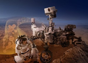 Humans and robots on Mars are likely to team up to augment the types of exploration avenues that can be done on the Red Planet. Credit: NASA/Ames Research Center