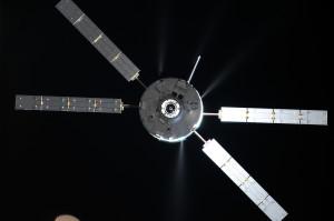 The slow burn. So long to ATV-5. Credit: Roscosmos-O. Artemyev