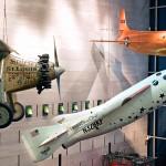Pioneering SpaceShipOne on display at the Smithsonian