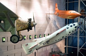 Pioneering SpaceShipOne on display at the Smithsonian's Air and Space Museum in Washington, D.C. Credit: NASM/Eric Long