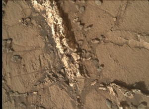 NASA's Mars rover Curiosity acquired this image using its Mars Hand Lens Imager (MAHLI), located on the turret at the end of the rover's robotic arm, on March 27, 2015, Sol 937. Image Credit: NASA/JPL-Caltech/MSSS