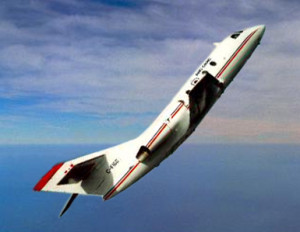 The National Research Council of Canada's Falcon 20 aircraft, flown out of Ottawa Airport, was used for parabolic flight experiments. Credit: ESA
