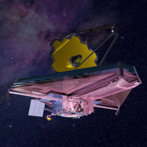 This rendering of the James Webb Space Telescope is current to 2015.  Credit: Northrop Grumman