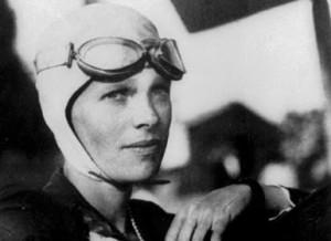 Famous aviator Amelia Earhart.