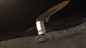 Asteroid Redirect Vehicle Landing on asteroid. Once the boulder is secured, the Capture and Restraint System legs will provide a mechanical push off that will separate the boulder from the surface and provide an initial ascent without the use of thrusters to limit the amount of debris created. Credit: NASA